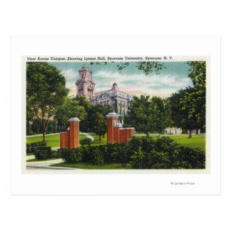 Syracuse U Campus View Showing Lyman Hall Postcard