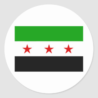 syria classic round sticker