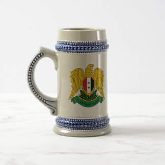 syria coat of arms beer stein