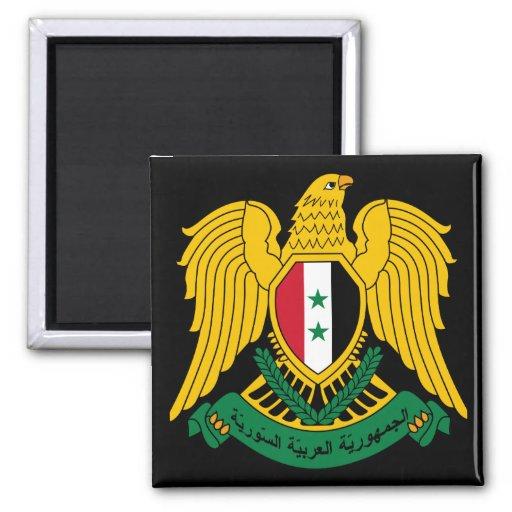 syria coat of arms fridge magnet