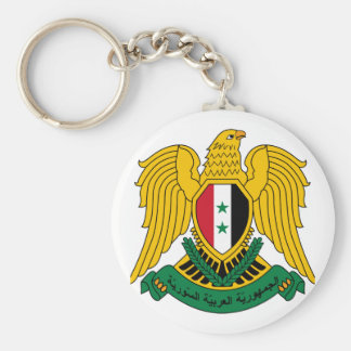 syria coat of arms keychain