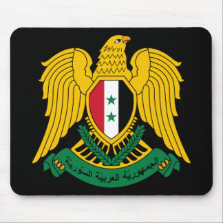 syria coat of arms mouse pad