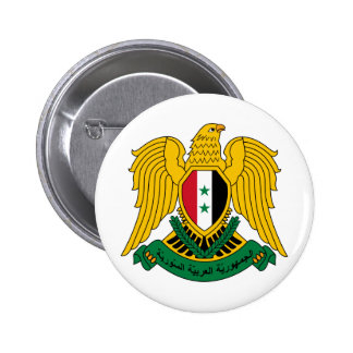 syria coat of arms pinback button