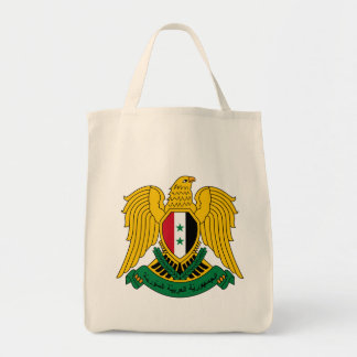 syria coat of arms tote bag