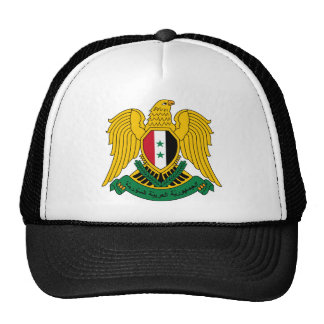 syria coat of arms trucker hat