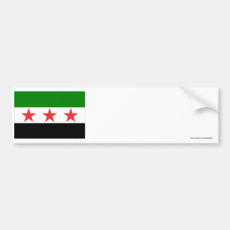 Syria Flag (1932-1958 and 1961-1963) Bumper Sticker