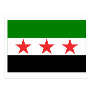 Syria Flag (1932-1958 and 1961-1963) Post Card