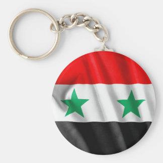 Syria Flag Basic Round Button Key Ring Basic Round Button Keychain