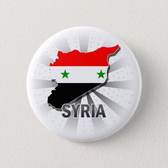 Syria Flag Map 2.0 Pinback Button