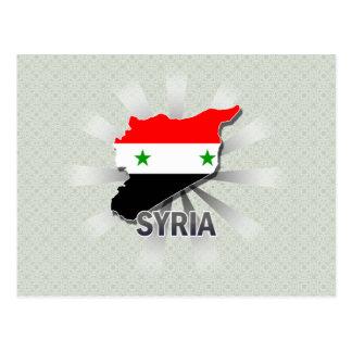 Syria Flag Map 2.0 Postcard
