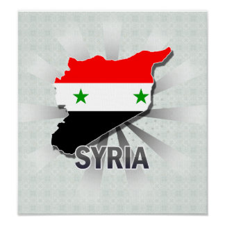 Syria Flag Map 2.0 Poster