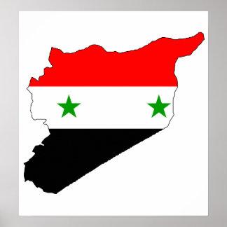 Syria Flag Map full size Poster