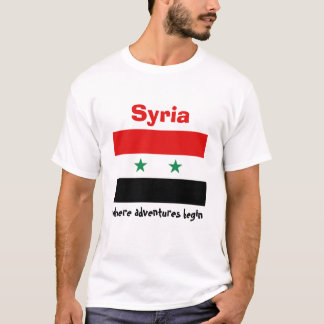 Syria Flag + Map + Text T-Shirt