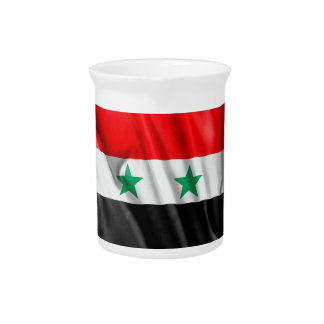 Syria Flag Pitcher