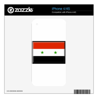 Syria Flag iPhone 4S Skins