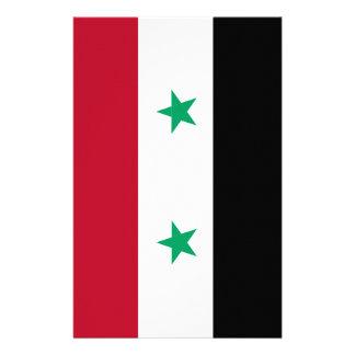 Syria flag stationery