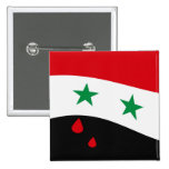 Syria Flag waving with blood red tears Pins