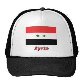 Syria Flag with Name Mesh Hat