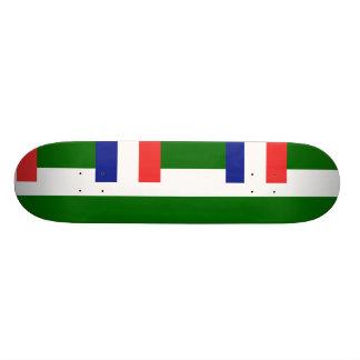 Syria French Mandate, France flag Skate Board Deck