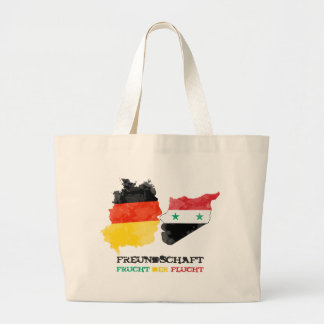 Syria Germany, friendship fruit of the escape Large Tote Bag