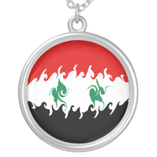 Syria Gnarly Flag Silver Plated Necklace