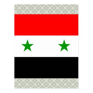Syria High quality Flag Postcard