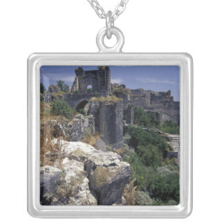 Syria, Marqab Castle, Crusaders castle located Square Pendant Necklace
