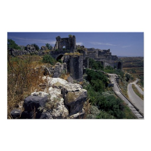 Syria, Marqab Castle, Crusaders castle located Poster