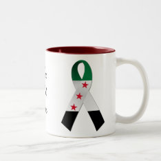 Syria National Flag Awareness Ribbon Mug at Zazzle
