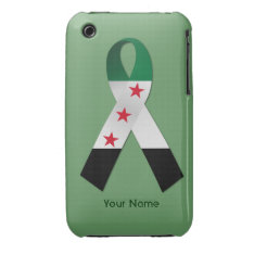 Syria National Flag Ribbon Iphone 3g/3gs Case at Zazzle