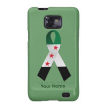 Syria National Flag Ribbon Samsung Galaxy Case Samsung Galaxy S2  Cover at Zazzle