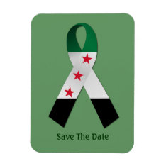 Syria National Flag Ribbon Save The Date Magnet at Zazzle