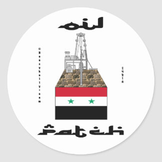 Syria Oil Patch,Sticker,Oil Field Collectors Item Classic Round Sticker