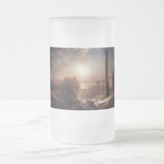 Syria on the sea by Frederick Edwin Church Frosted Glass Beer Mug