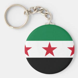 syria opposition basic round button keychain