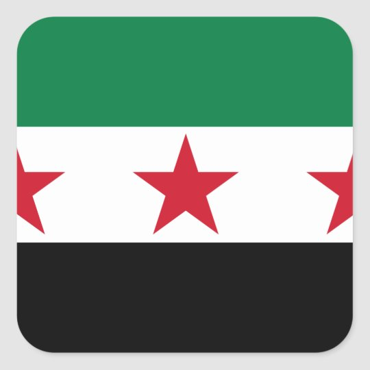 syria opposition square sticker