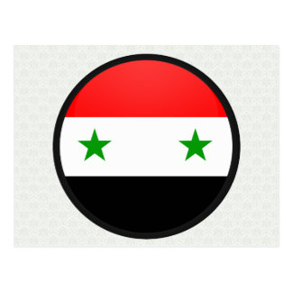 Syria quality Flag Circle Postcard