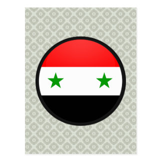 Syria quality Flag Circle Postcards