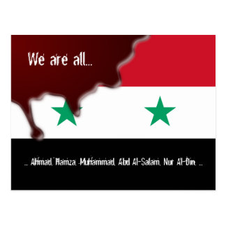 Syria Revolution Arab Spring We are all.. Postcard