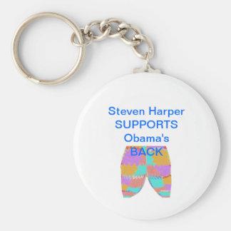 SYRIA : Steven Harper BACKS Obama Keychains