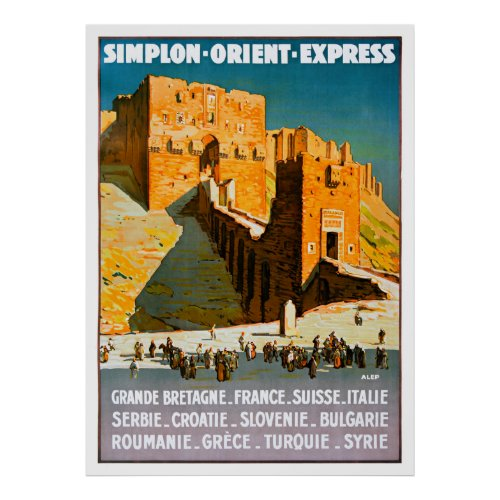 Syria Vintage Travel Poster Restored