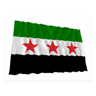 Syria Waving Flag (1932-1958 and 1961-1963) Postcard