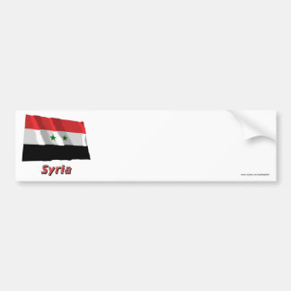 Syria Waving Flag with Name Bumper Stickers