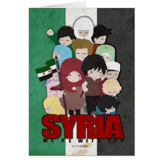 SYRIA - We're With You Card