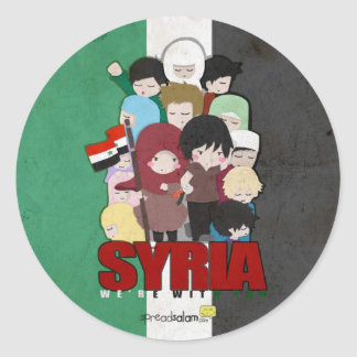 SYRIA - We're With You Classic Round Sticker