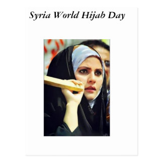 SYRIA World Hijab Day Postcard
