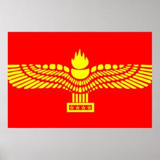 Syriac Aramaic People, Syria flag Poster