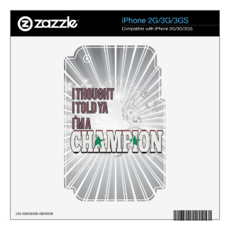 Syrian and a Champion Decal For iPhone 2G