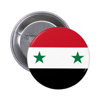 Syrian Arab Republic Flag - Flag of Syria Button