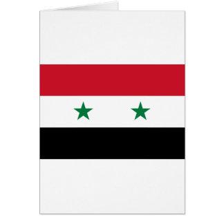 Syrian Arab Republic Flag - Flag of Syria Card